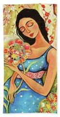 Birth Flower Beach Sheet