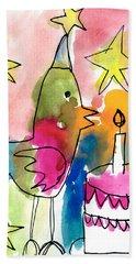 Birthday Bird Beach Sheet