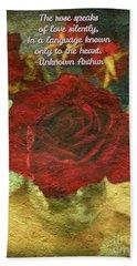 Birthday Roses With Poem  Beach Towel