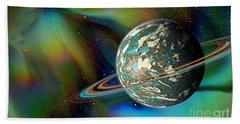 Birthing Planet Beach Towel by Curtis Koontz