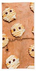 Biscuit Gathering Of Monster Mummies Beach Towel