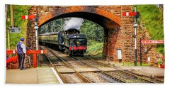 Bishops Lydeard Station, Uk Beach Towel