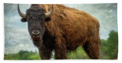 Beach Towel featuring the photograph Bison 9 by Joye Ardyn Durham