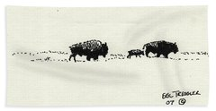 Bison Family Beach Towel