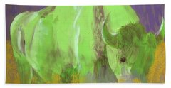 Bison On The American Plains Beach Towel by Donald J Ryker III