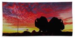 Bison Sunset Beach Sheet by Larry Trupp
