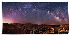 Bisti Badlands Night Sky - 2 Beach Sheet