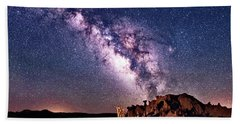 Bisti Badlands Night Sky Beach Towel