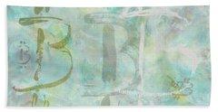 Beach Towel featuring the painting Bitcoin Universe by Eva Konya