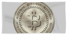 Bitcoin Symbol Hodl Quote Typography Beach Towel