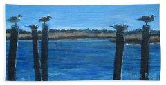 Bivalve Seagulls Beach Towel