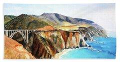 Bixby Bridge Big Sur Coast California Beach Sheet
