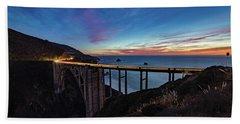 Bixby Bridge Sunset Beach Towel