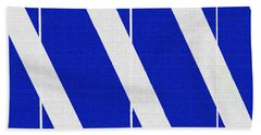 Blue And White Abstract Beach Towel by Tom Janca