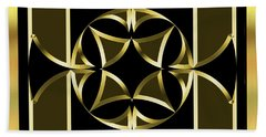 Black And Gold 13 - Chuck Staley Beach Towel by Chuck Staley