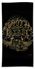 Black And Gold Quote - Faith Is The Bird Beach Sheet
