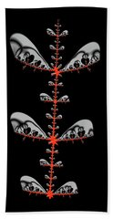 Beach Towel featuring the digital art Black And Red Abstract Fractal by Matthias Hauser