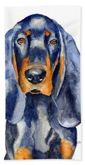 Black And Tan Coonhound Dog Beach Towel