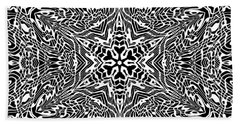 Beach Sheet featuring the digital art Black And  White 27 by Robert Thalmeier