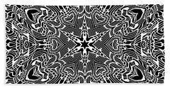 Beach Sheet featuring the digital art Black And  White 28 by Robert Thalmeier