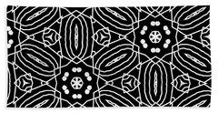Black And White Boho Pattern 2- Art By Linda Woods Beach Towel