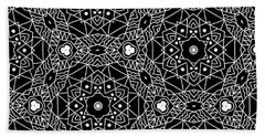 Black And White Boho Pattern 3- Art By Linda Woods Beach Towel