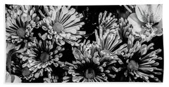 Black And White Bouquet Beach Towel