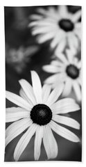Beach Towel featuring the photograph Black And White Daisies by Christina Rollo