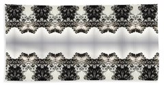 Black And White Design Beach Sheet by Nora Boghossian
