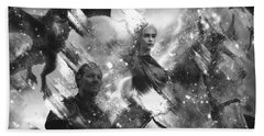 Black And White Games Of Thrones Another Story Beach Sheet