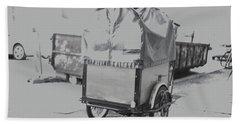 Black And White German Stroller Beach Sheet