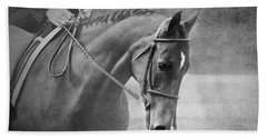 Black And White Horse Photography - Softly Beach Towel