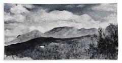 Black And White Landscape Beach Sheet
