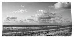 Black And White Ocean Scene Beach Sheet