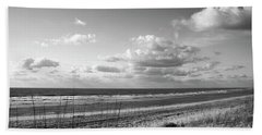 Black And White Ocean Scene Beach Towel