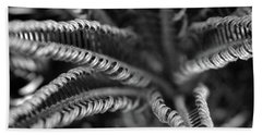 Black And White Palm Abstract 3624 Bw_2 Beach Towel