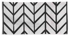 Beach Towel featuring the painting Black And White Quilt by Debbie DeWitt