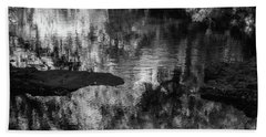 Black And White Reflection Beach Towel