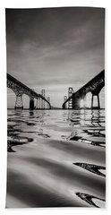 Black And White Reflections Beach Towel
