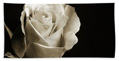 Black And White Rose 5534.01 Beach Sheet by M K  Miller