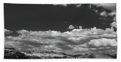 Black And White Small Town  Beach Towel