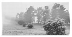 Black And White Snow Landscape Beach Towel