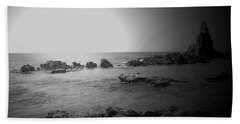 Black And White Sunset In Spain Beach Towel