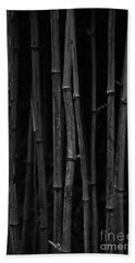 Black Bamboo Beach Towel