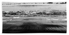 Black Beach  Beach Towel