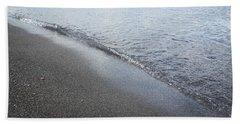 Black Beach Shore Beach Towel