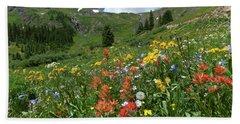 Beach Towel featuring the photograph Black Bear Pass Landscape by Cascade Colors