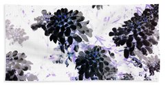 Black Blooms I Beach Towel