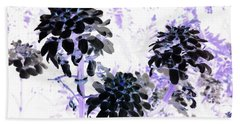 Black Blooms I I Beach Towel