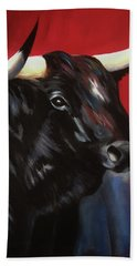 Black Bull Beach Towel
